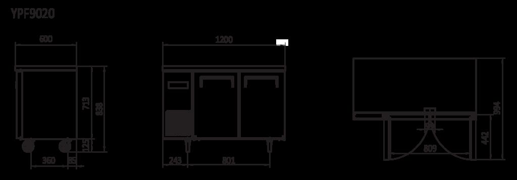 under bench fridge dimensions