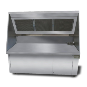 Commercial ductless hood front