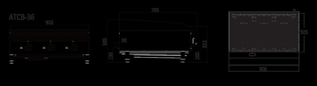 Medium Char Grill - Technical drawings