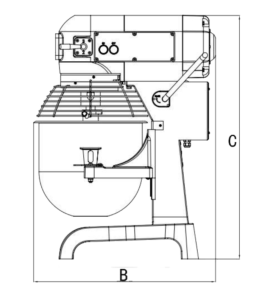 Technical Drawing 20L Planetary mixer