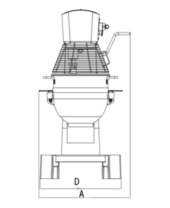 Technical Drawing 30L Planetary mixer