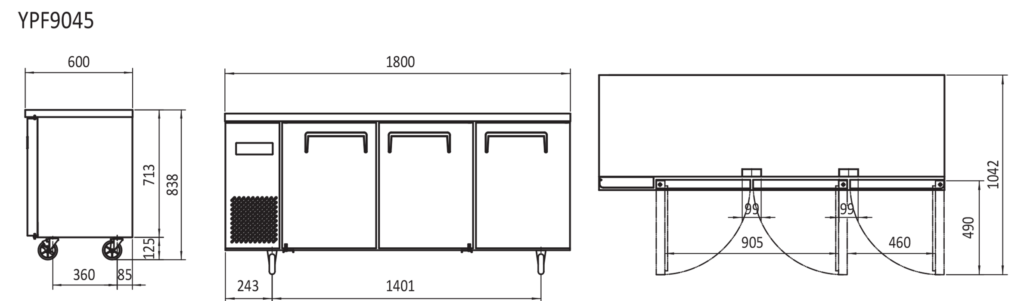 Commercial Bench Freezer