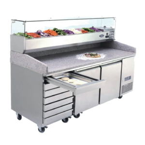 Pizza Prep bench marble