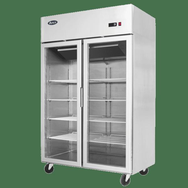 Atosa 2 glass door commercial fridge