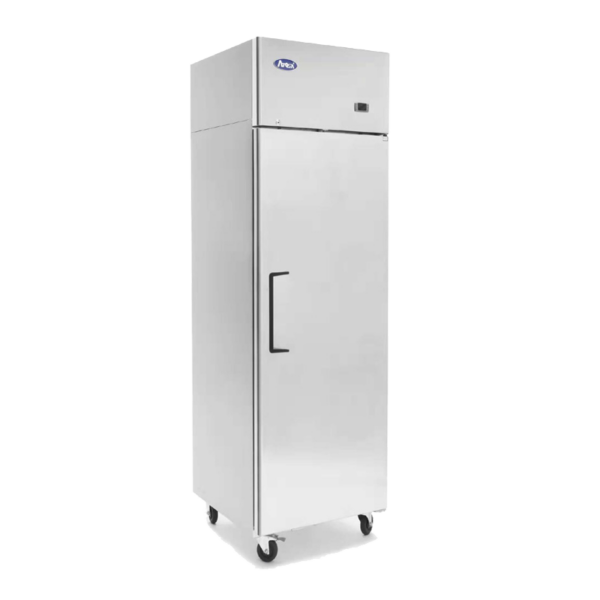 small commercial upright fridge