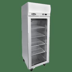 Atosa 1 glass door commercial fridge display on wheels