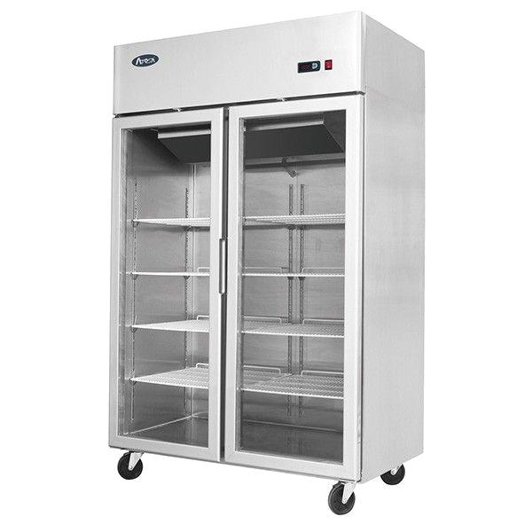 Atosa 2 Glass Door Commercial Restaurant fridge mcf 8602