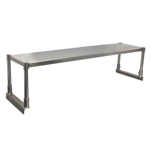 Stainless bench shelf