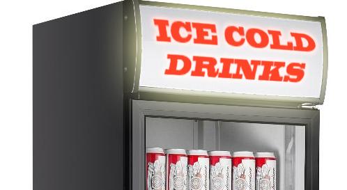 drink fridge sign