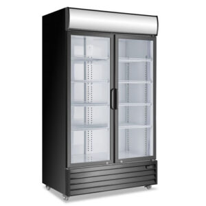 Atosa Fridge Black 2 Door Shop Refrigerator