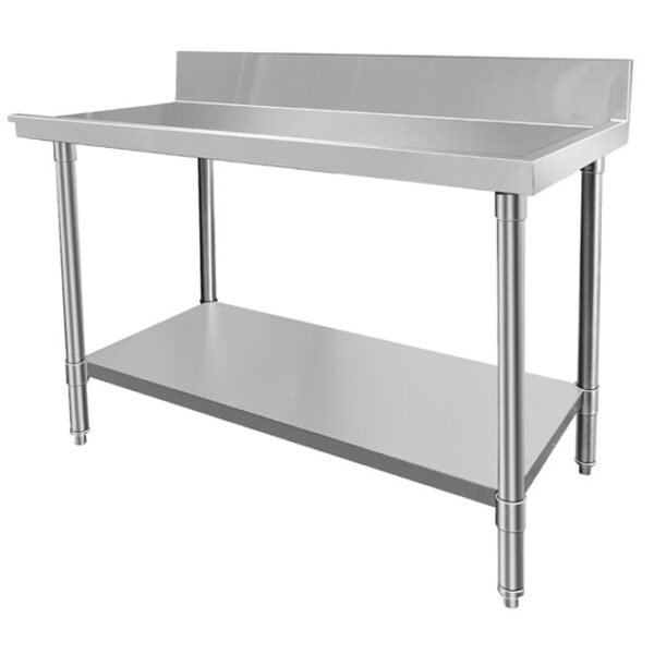 Stainless dishwasher outlet bench