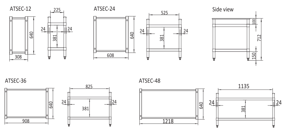 Cooktop stand Technical Drawing