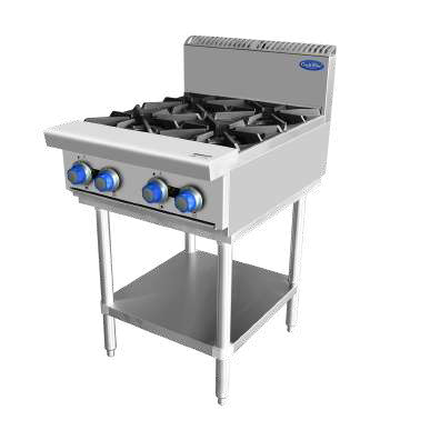 Commercial 4 Burner Stove on Stand