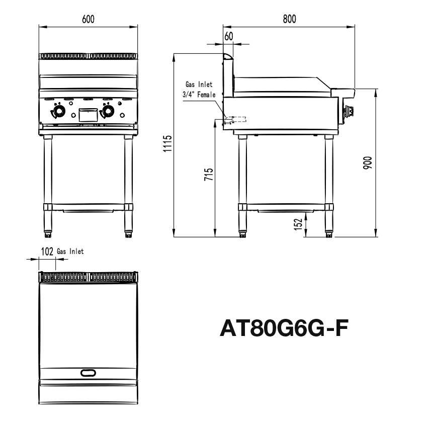 Small Commercial Griddle Stand Dimensions