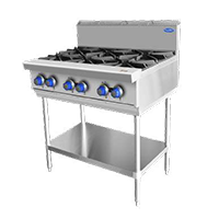 Commercial Cooktop burners