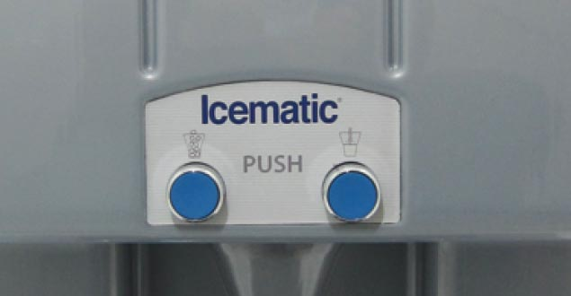 Icematic water ice dispenser